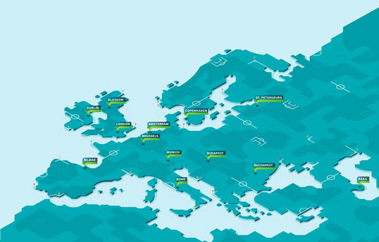 EK 2021 speelsteden